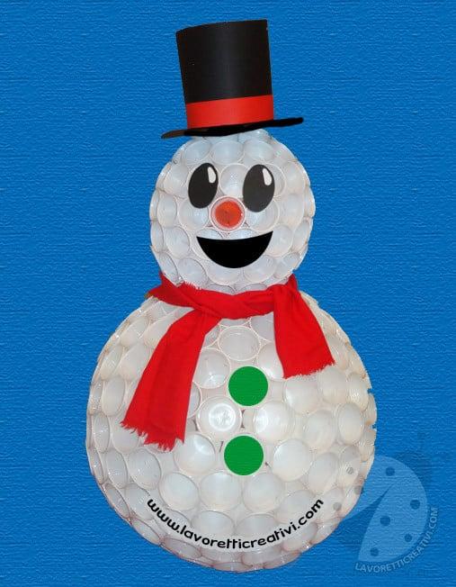 Sono veramente simpatici i pupazzi di neve  purtroppo non tutti possiamo  realizzarli con la neve! ! Ma ognuno f30bbed8270f