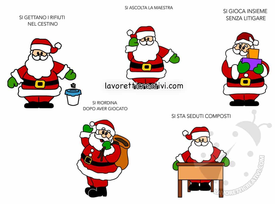 Regole Scuola Infanzia Con Babbo Natale Lavoretti Creativi