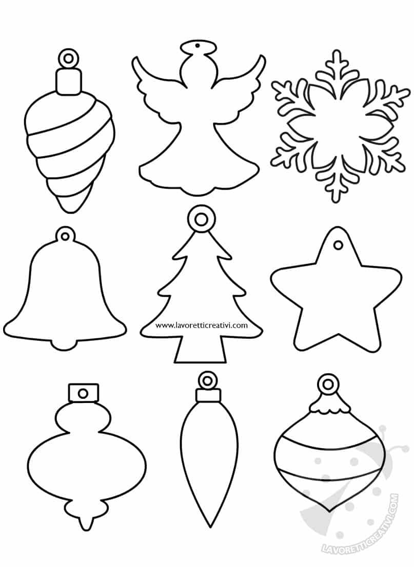 Decorare Finestre Per Natale Scuola sagome per decorazioni natalizie da ritagliare - lavoretti