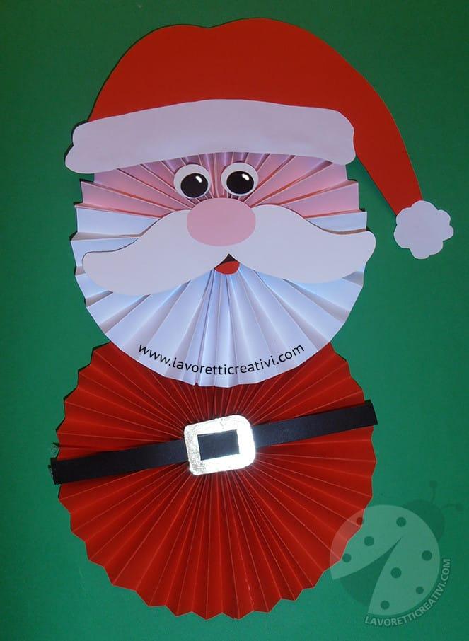 Lavoretti Di Natale Con Babbo Natale.Babbo Natale Con Coccarde Per Decorazioni Natalizie Lavoretti Creativi