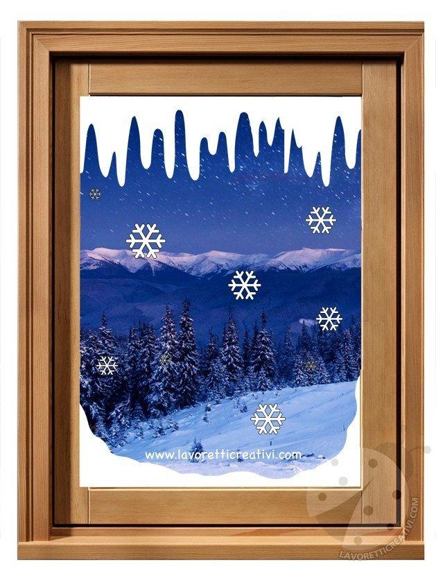 Decorazioni invernali per per finestre scuola primaria for Decorazioni invernali per scuola