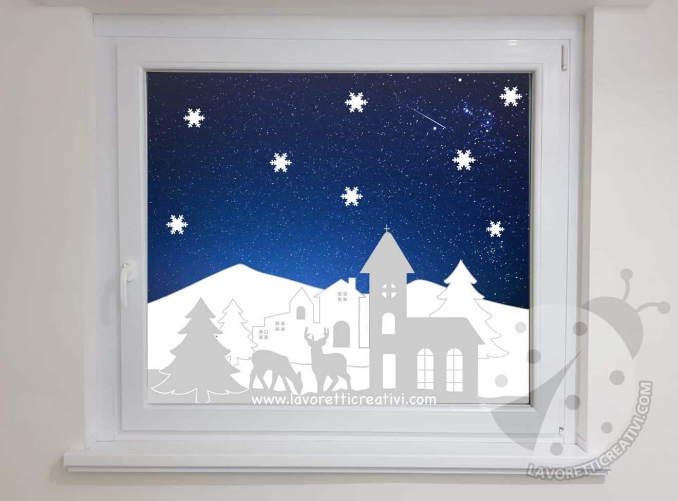 Decorazioni invernali per finestre fai da te lavoretti - Finestre fai da te ...
