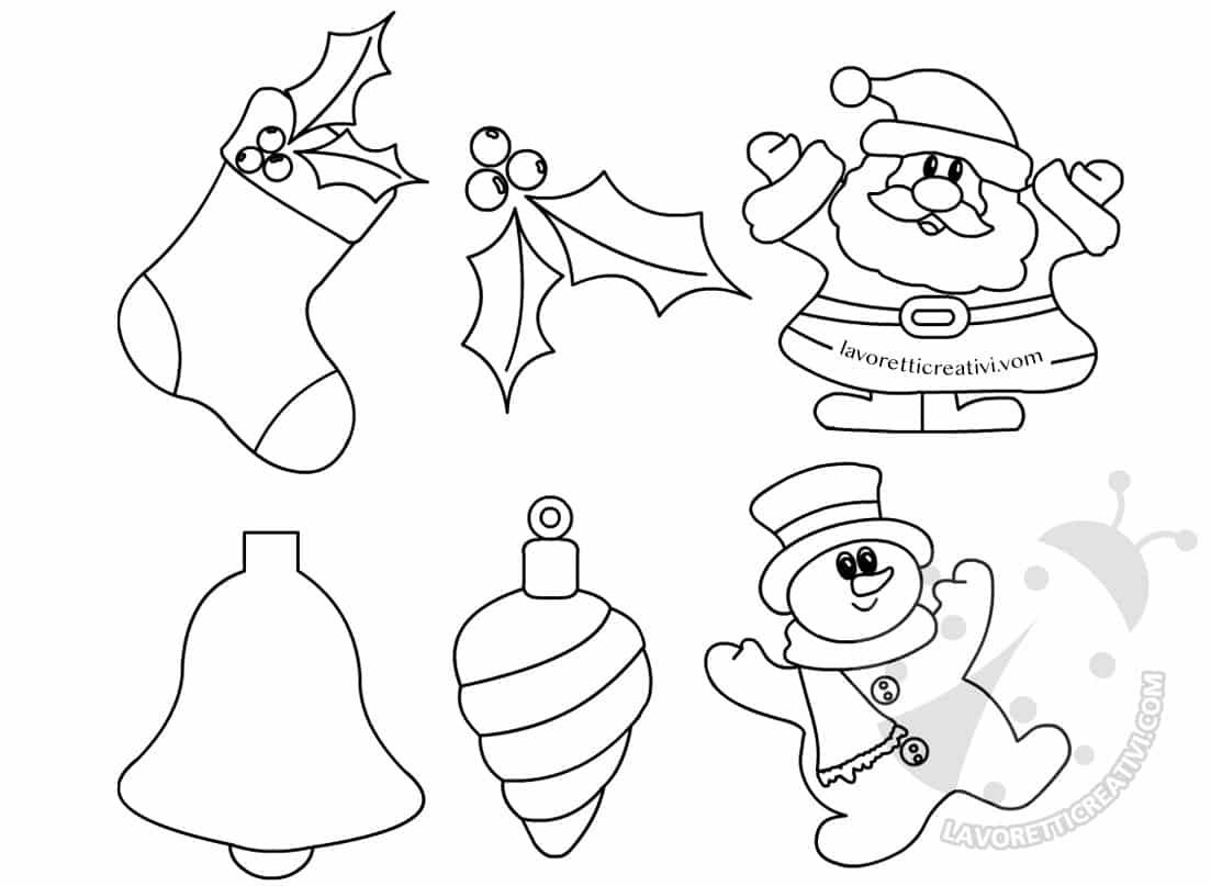 disegni natalizi da ritagliare