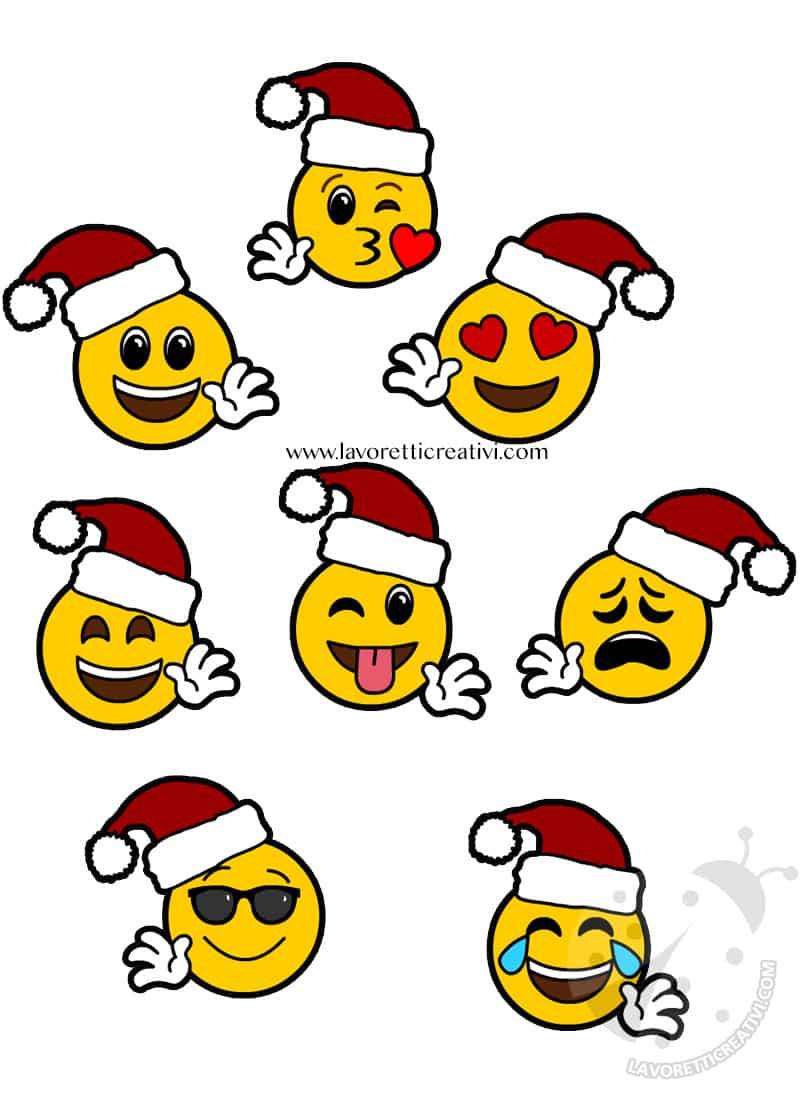 Emoticon Di Natale Da Stampare Per Bambini Lavoretti Creativi