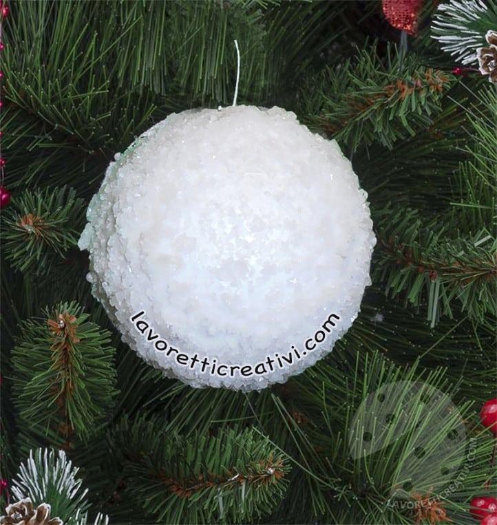Creare Palline Di Natale Con Foto.Palline Di Natale Effetto Neve Con Il Sale Tutorial Lavoretti Creativi