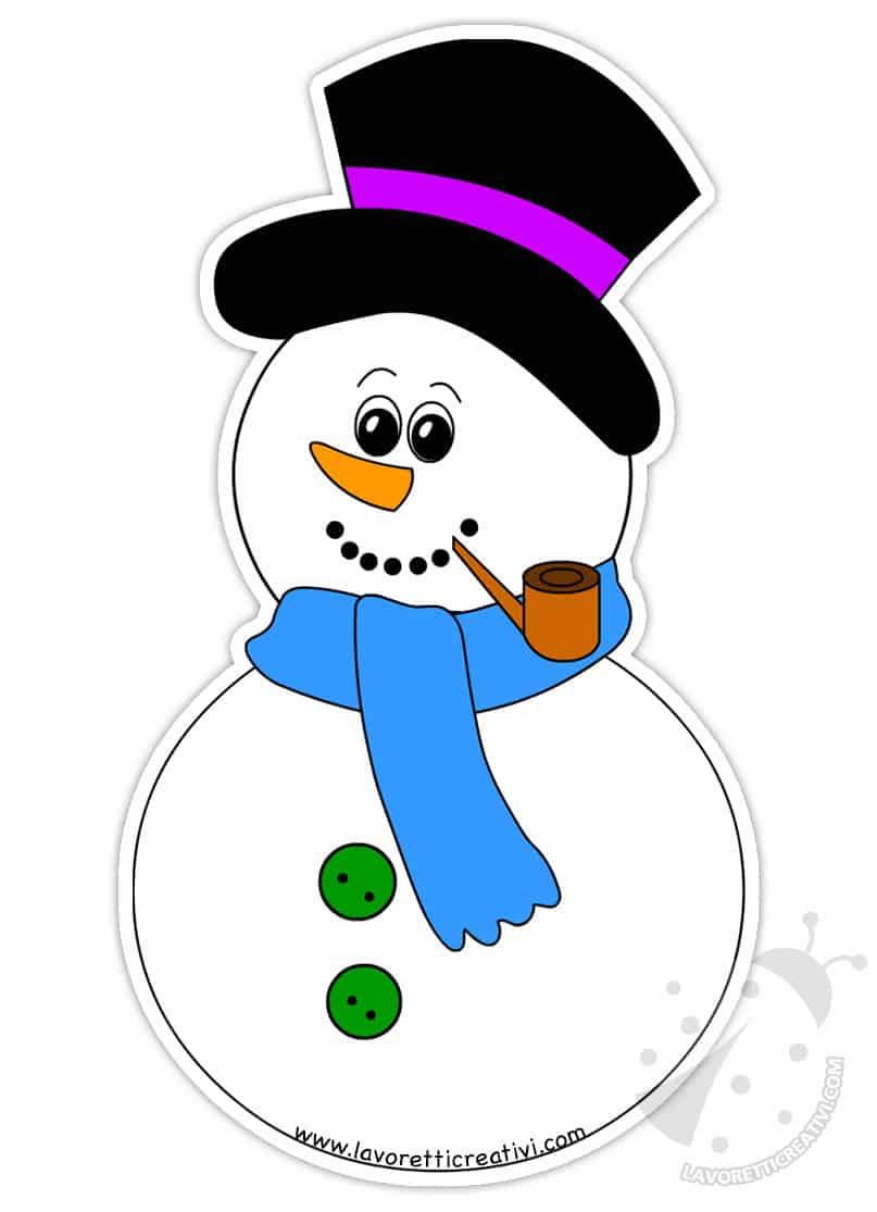 Sagome Pupazzo Di Neve Per Decorazioni Invernali Lavoretti Creativi