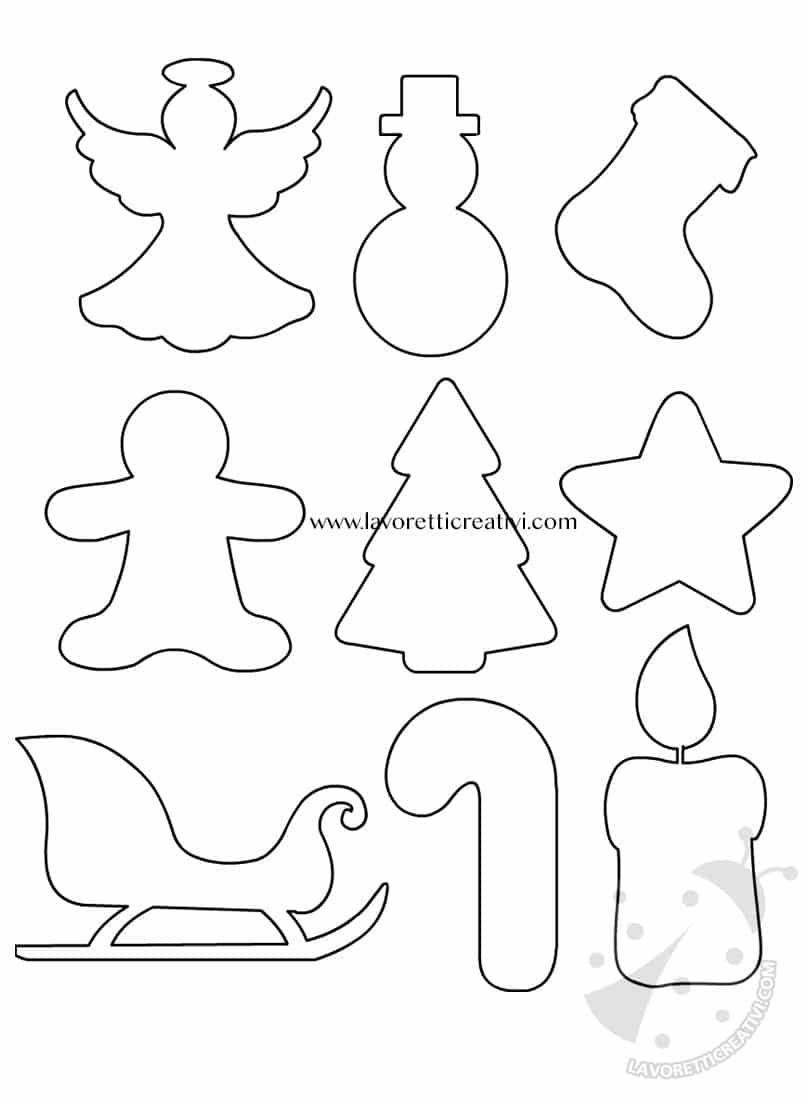 Sagome per decorazioni natalizie fai da te lavoretti for Decorazioni oggetti fai da te