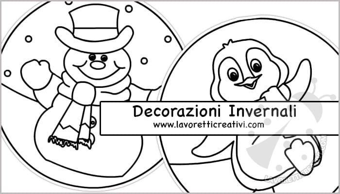 Disegni Da Colorare Con Tema Invernale Lavoretti Creativi