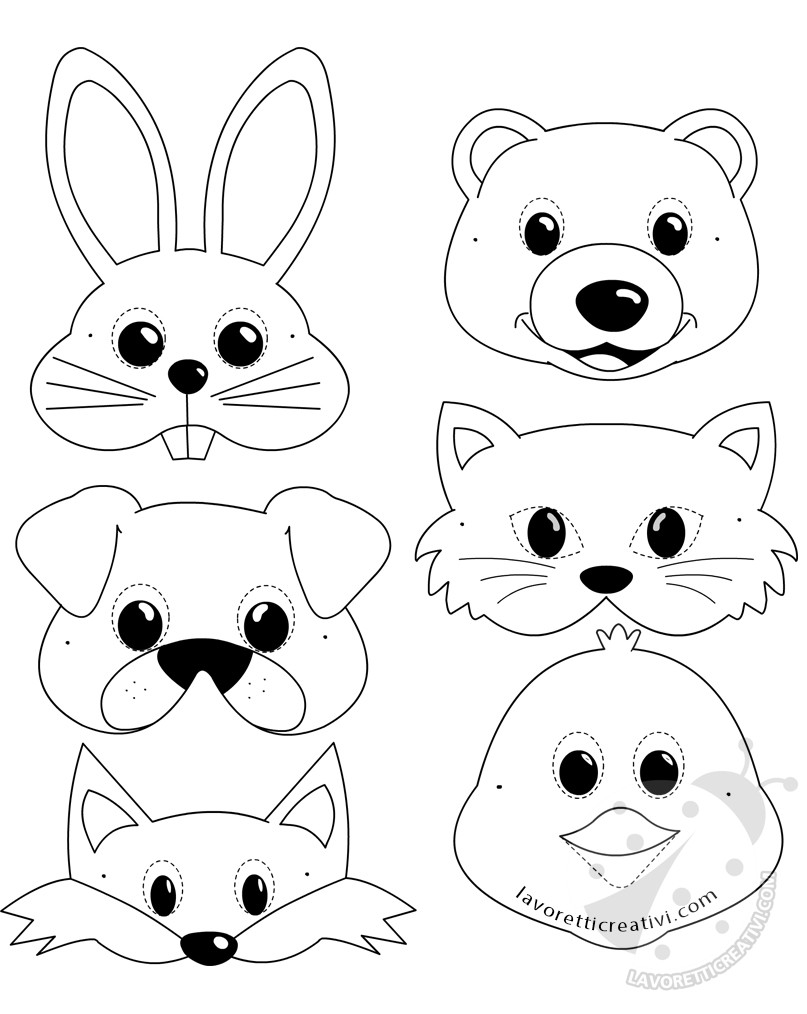 Maschere Di Animali Per Bambini Da Stampare E Ritagliare Lavoretti Creativi