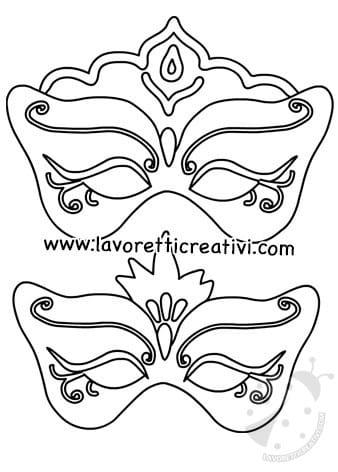 Maschere Di Carnevale Da Colorare Lavoretti Creativi