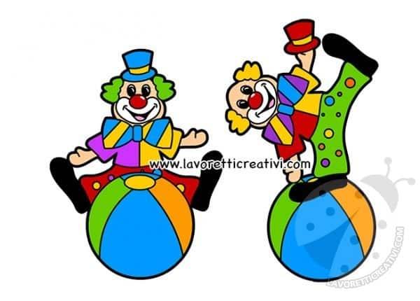 Carnevale Pagliacci Da Ritagliare Lavoretti Creativi