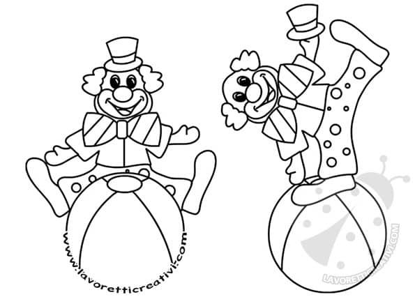 Pagliacci da colorare carnevale lavoretti creativi for Pagliaccio da colorare