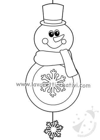 Decorazioni Inverno Pupazzo Di Neve Da Appendere Lavoretti Creativi
