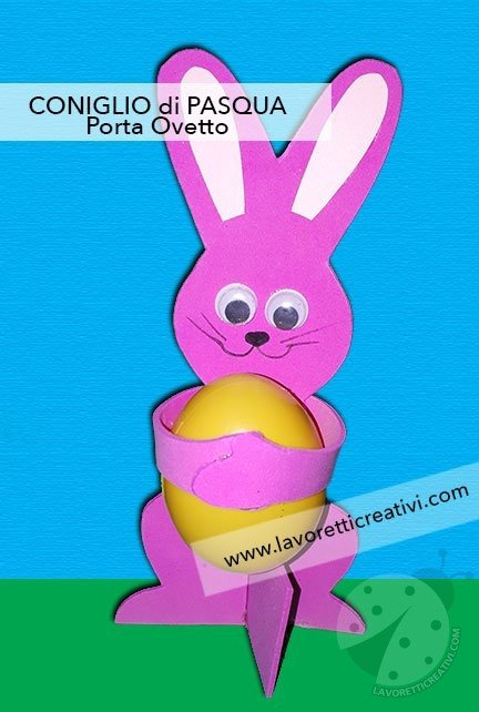 Coniglietto pasquale porta ovetto in fommy