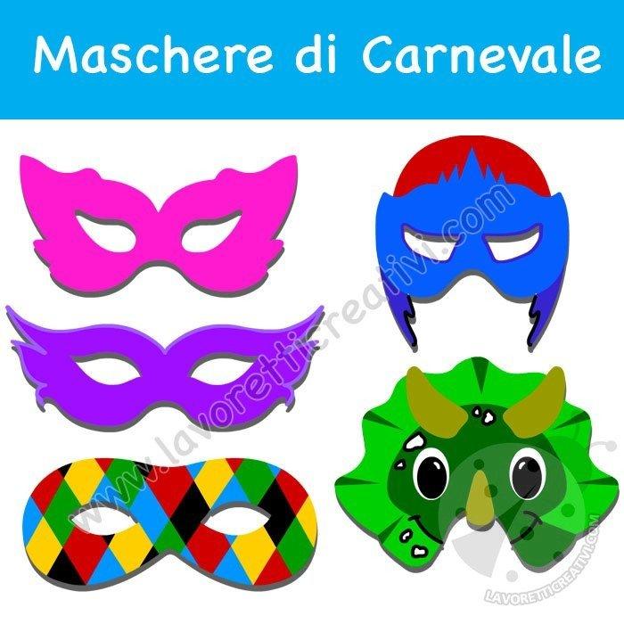Maschere Di Carnevale Da Stampare Lavoretti Creativi
