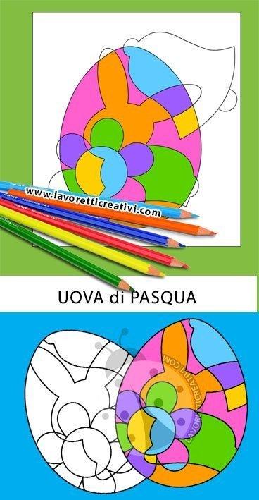 Uova di Pasqua astratte Arte Scuola