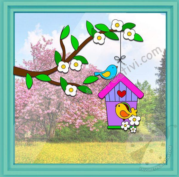 Addobbi per finestra sulla primavera lavoretti creativi for Addobbi finestre natale scuola infanzia