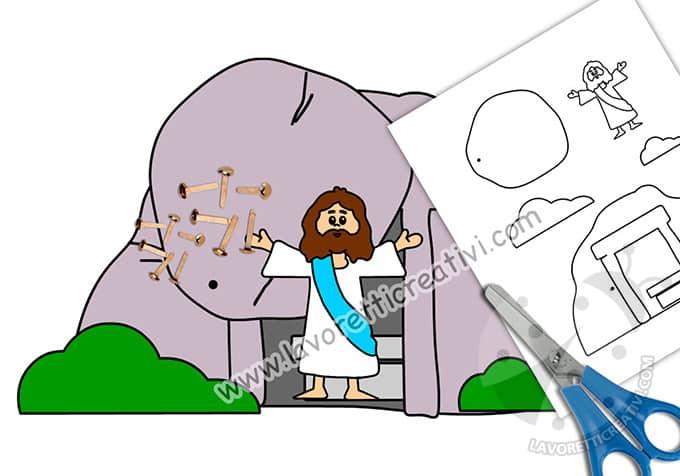 lavoretti pasqua di Gesù