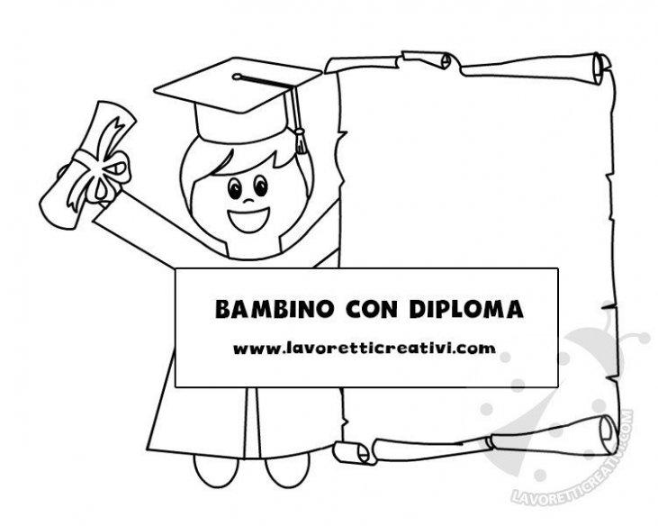 Fine Anno Scolastico Bambino Con Diploma Lavoretti Creativi