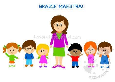 Maestra con gli alunni della Scuola dell'Infanzia