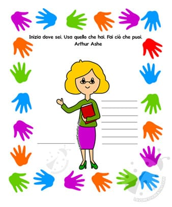 Saluto della maestra per gli alunni di scuola primaria