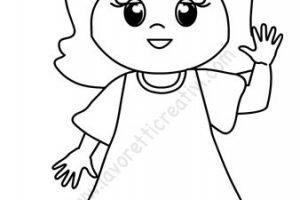 Bambina Disegno Da Colorare.Disegno Bambina Lavoretti Creativi