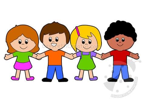 bambini scuola infanzia che si tengono per mano