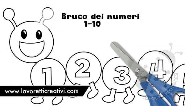 Bruco Dei Numeri Sagome Da Stampare Lavoretti Creativi