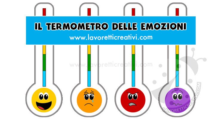 termometro delle emozioni a colori