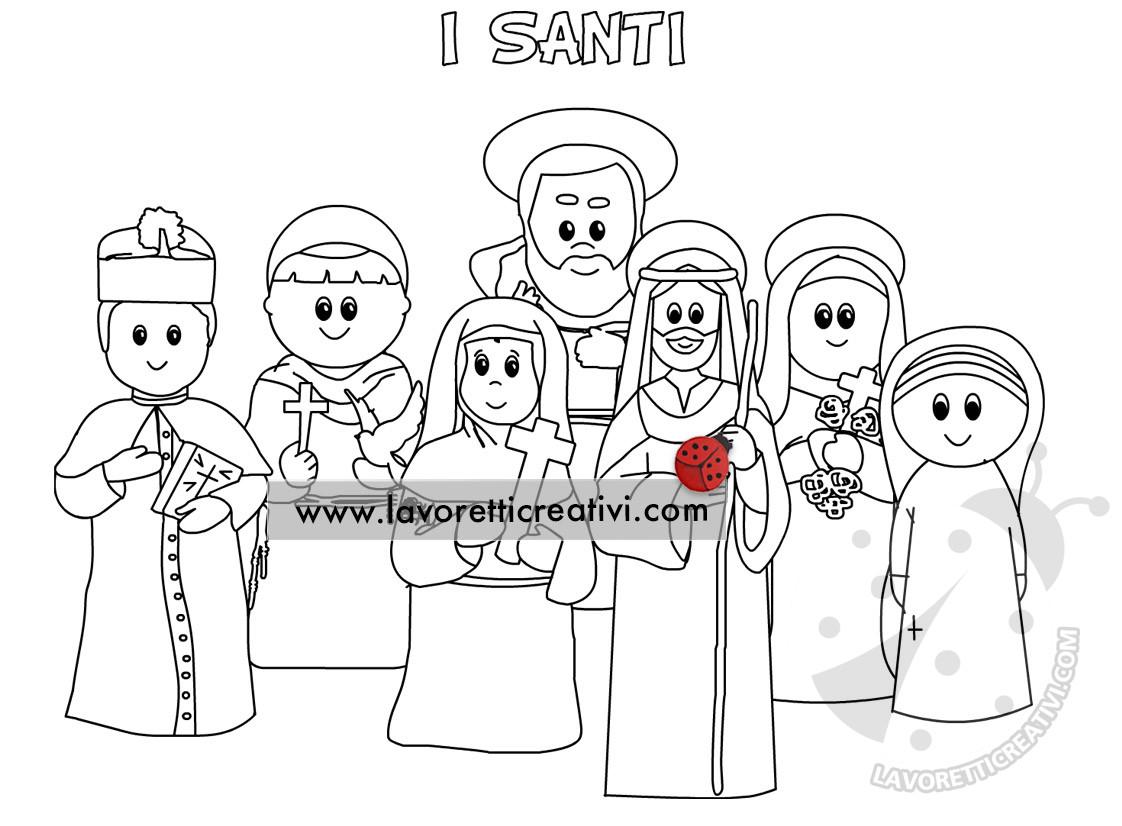 Disegni di Santi da colorare