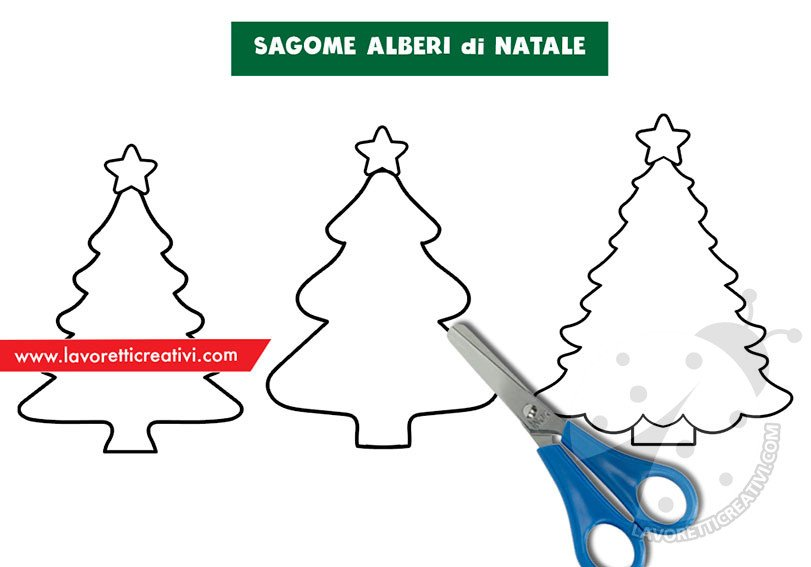 Albero Di Natale Da Colorare E Stampare.Sagome Alberi Di Natale Da Stampare Lavoretti Creativi