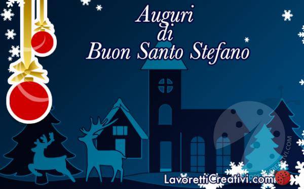 Auguri di Buon santo Stefano Immagine da inviare
