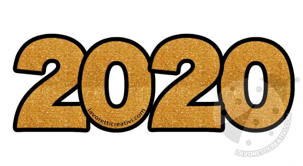 2020 oro glitter