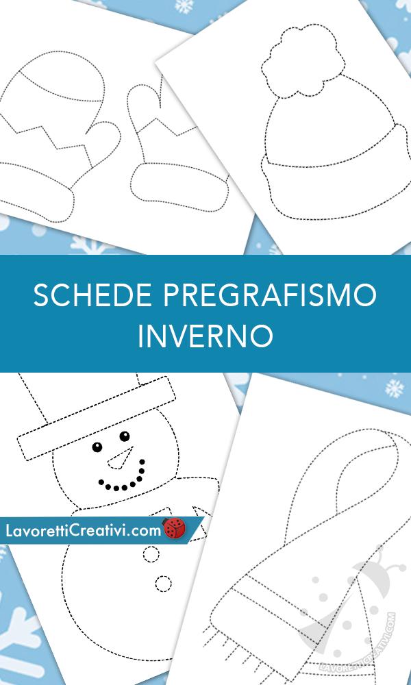 Schede Di Pregrafismo Sull Inverno Da Stampare Lavoretti Creativi