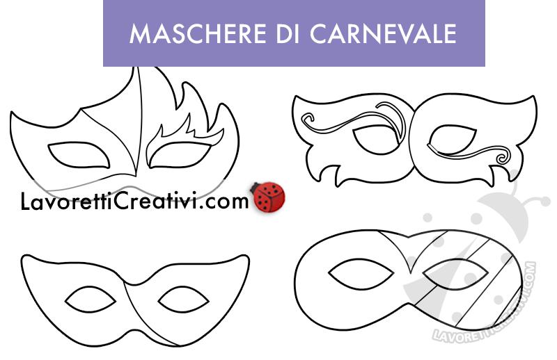 set maschere di Carnevale