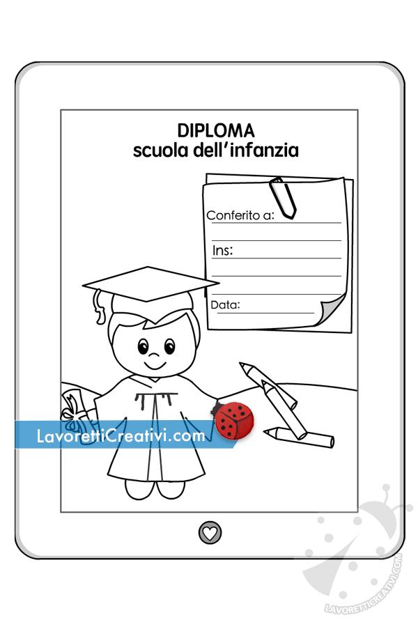Diploma di Fine anno con bambino