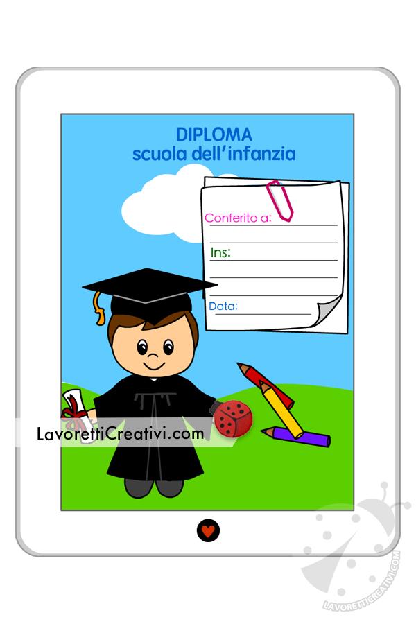 Diploma per la scuola dell'infanzia