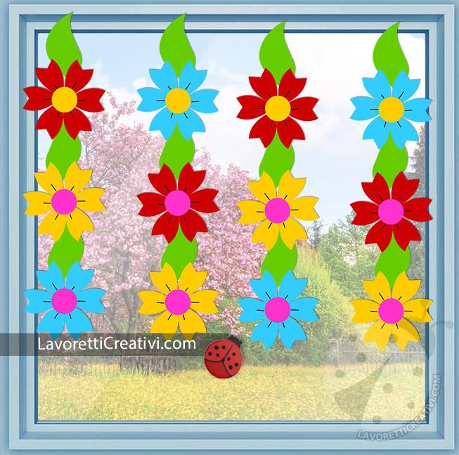 Addobbi per finestre con fiori