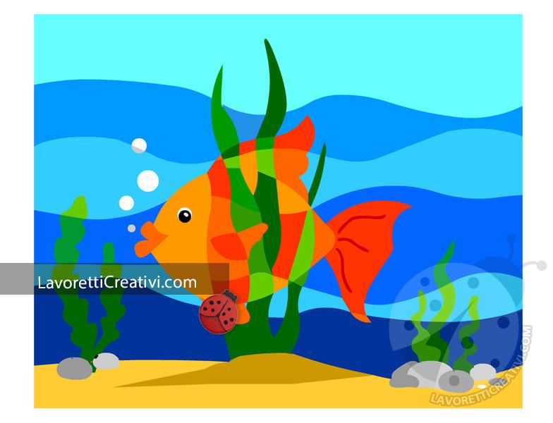 Pesce con colori caldi e freddi