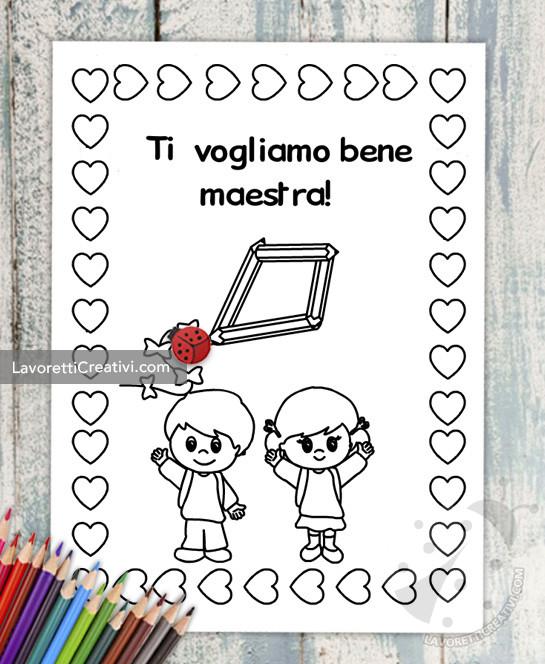 Disegno Per Maestra Da Colorare Lavoretti Creativi