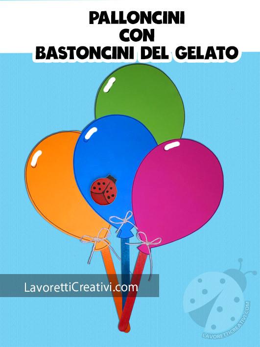 palloncini con bastoncini del gelato