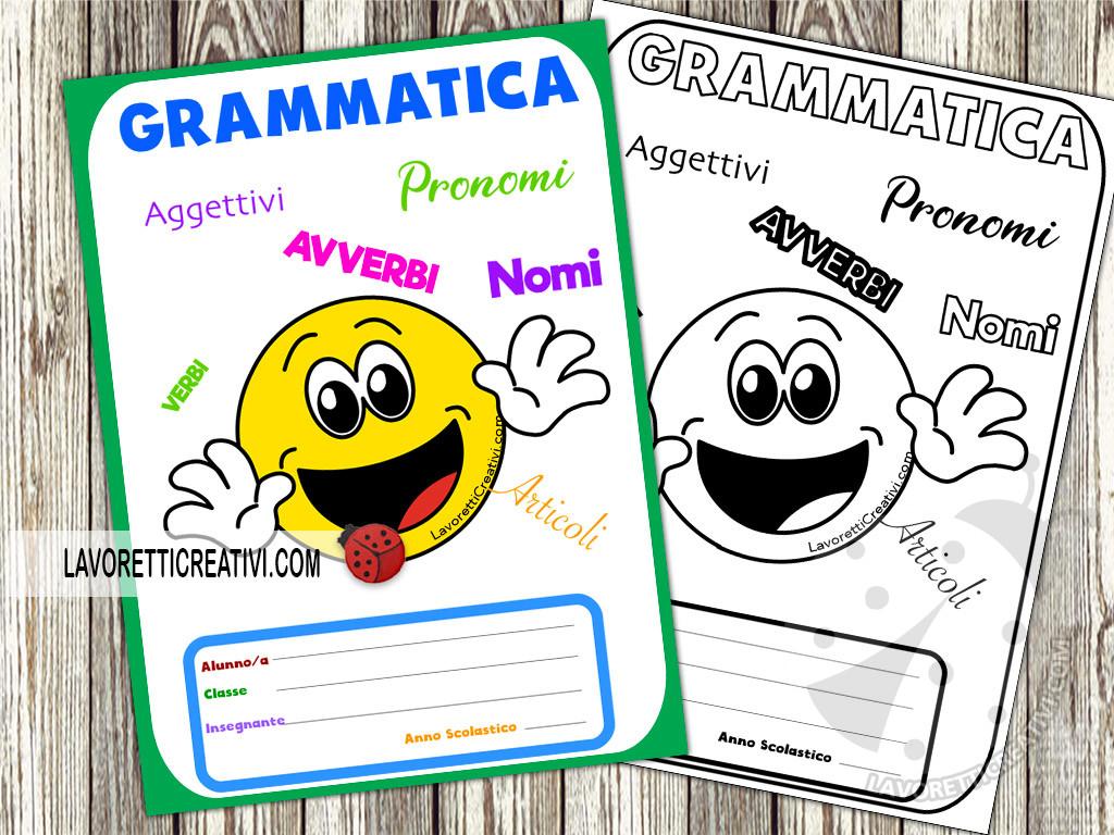 Copertina di grammatica scuola primaria