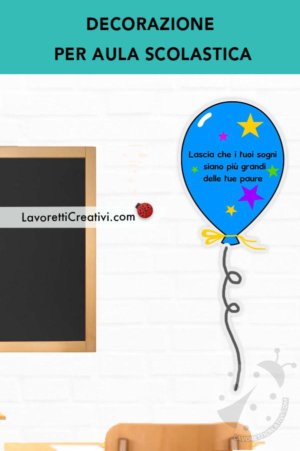 Decorazioni per l'aula con frasi di incoraggiamento