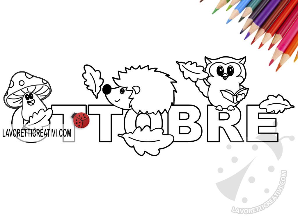 mese di Ottobre da colorare