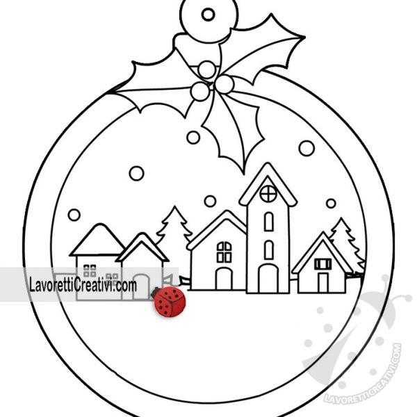 Pallina Di Natale Con Paesaggio Innevato Lavoretti Creativi