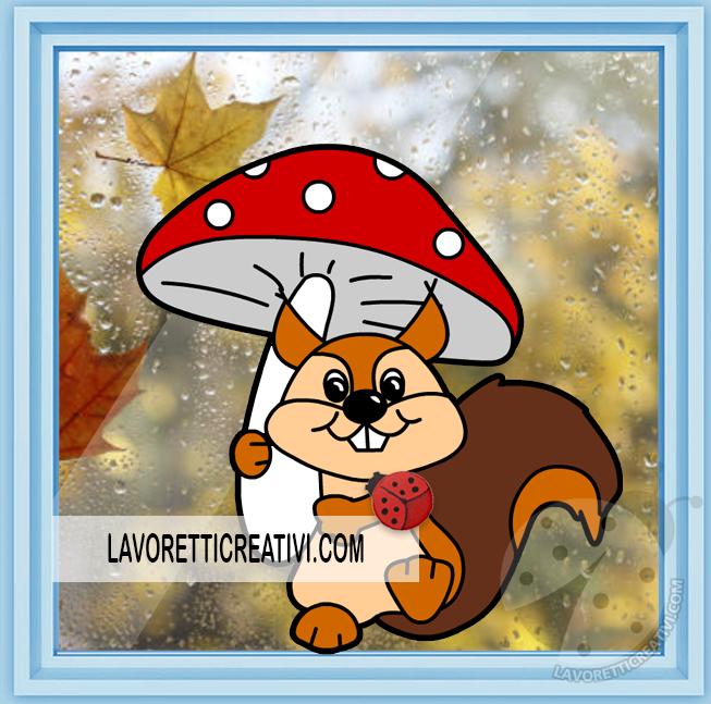 Decorazioni per l'autunno di carta
