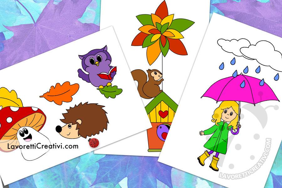 Disegni sull'autunno a colori