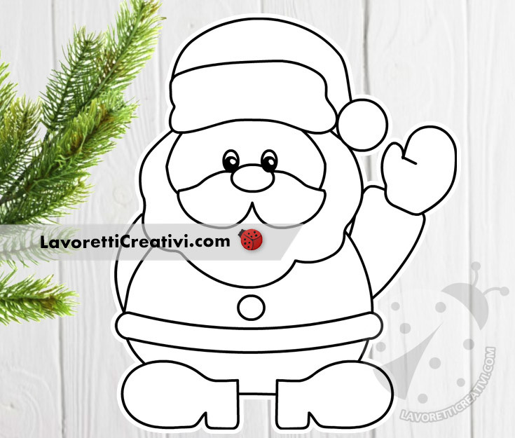 Sito Ufficiale Di Babbo Natale.Disegno Di Babbo Natale Da Colorare Lavoretti Creativi