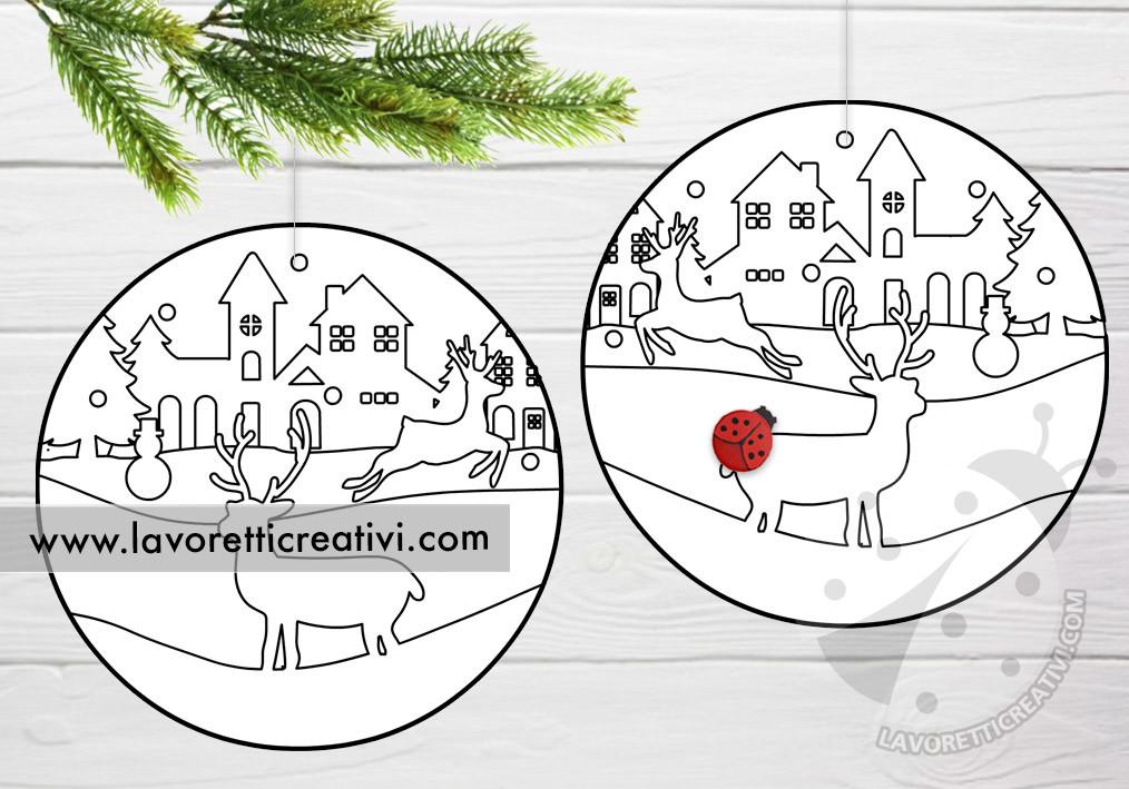 Disegni Paesaggi Di Natale.Decorazioni Natalizie Da Colorare Lavoretti Creativi