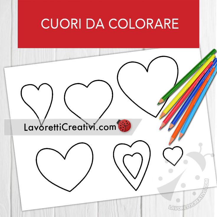 Disegno di cuori per San Valentino da colorare
